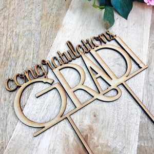 Download SVG File Cutting File Congratulations Grad Cake Topper Graduation Cake topper Congrats Grad Graduation Cake Topper Graduation cake