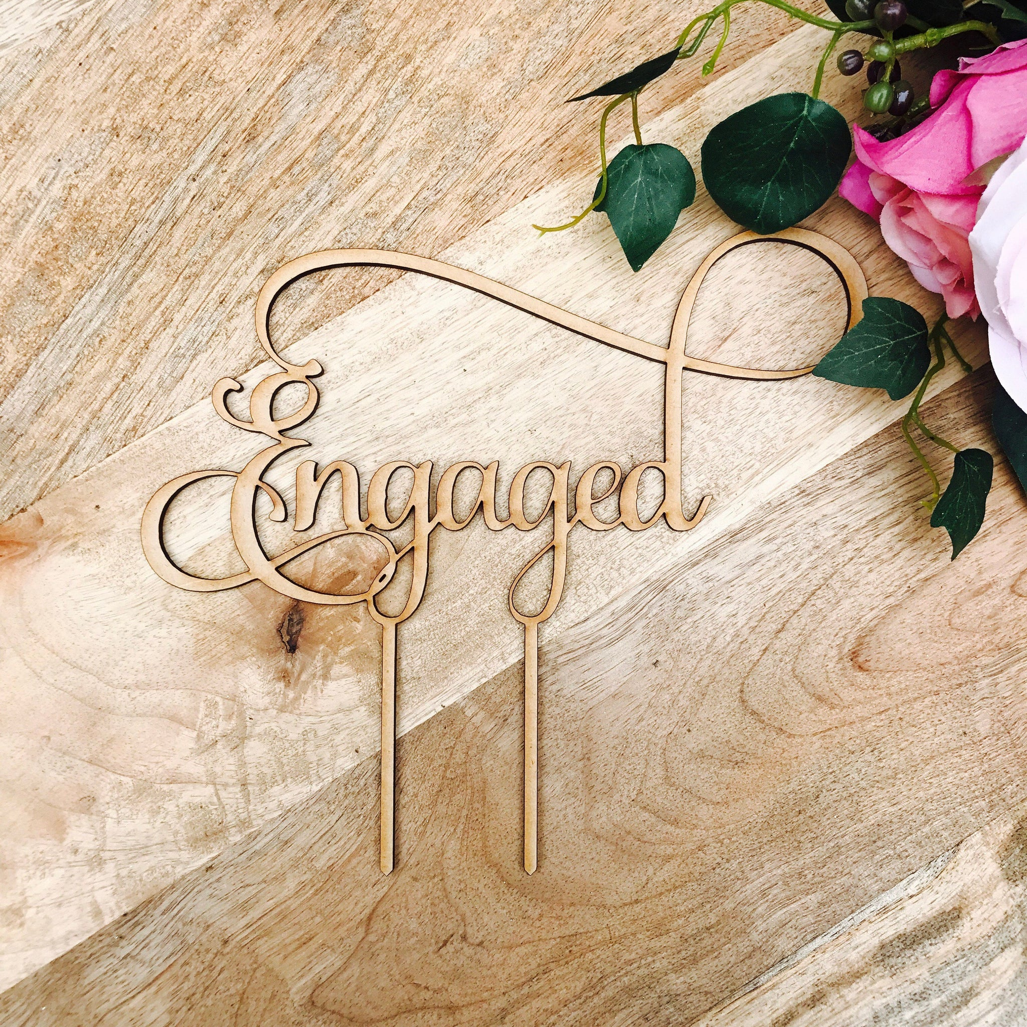 engaged cake topper by sugarboo personalized cake toppers we are