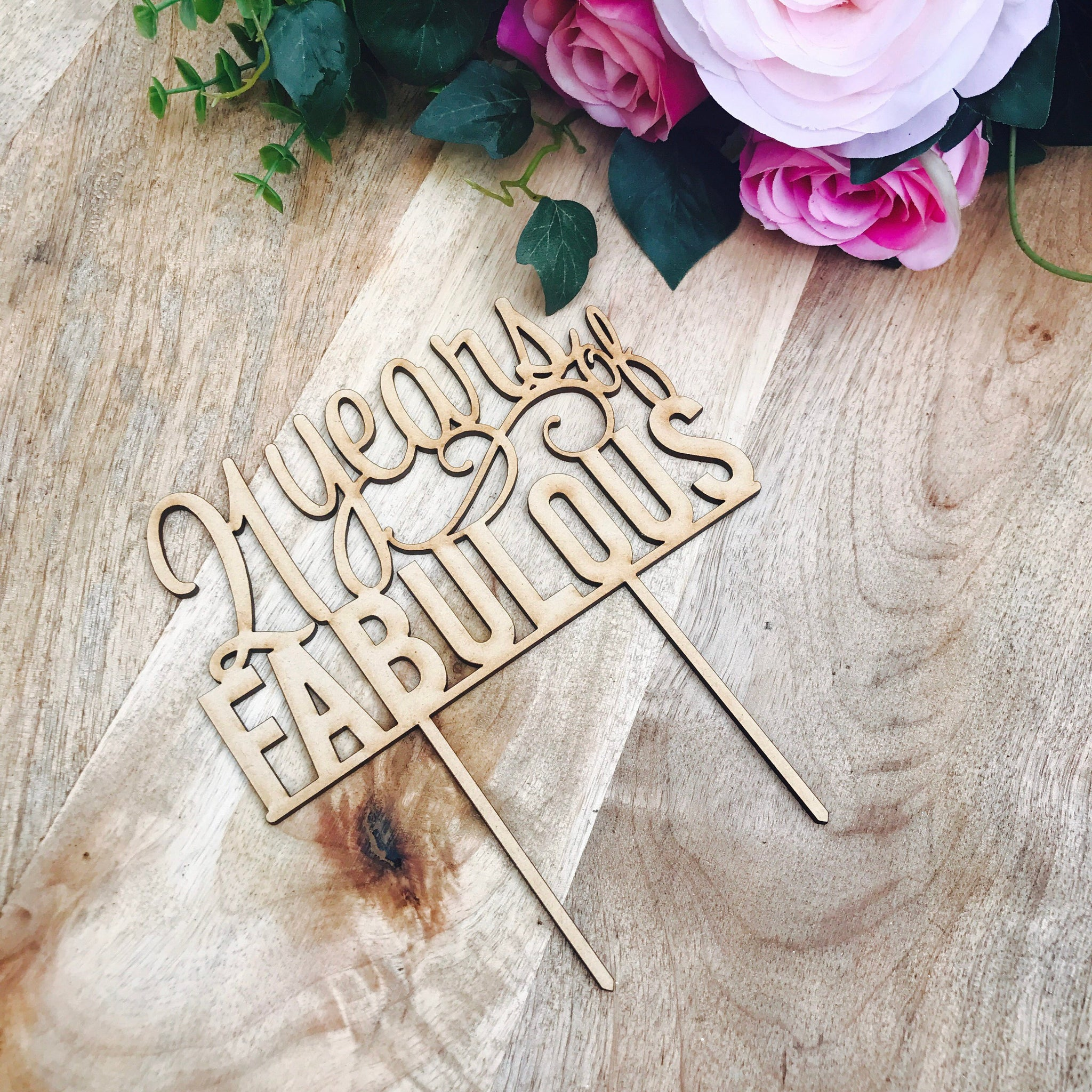 Clearance 1 Only Timber 21 Years Of Fabulous Cake Topper 21st