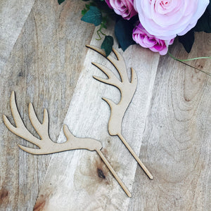 Antler Cake Topper Hunter Cake Topper Cake Decoration Cake Decorating Hunting Antlers Cake Topper Sugar Boo Custom Toppers Sugar Boo
