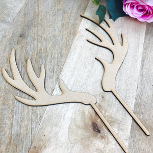 Download SVG File Cutting File Antler Cake Topper Hunter Cake Topper Cake Decoration Cake Decorating Hunting Antlers Cake Topper Sugar Boo