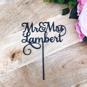 Mr & Mrs Surname Personalised Wedding Cake Topper Wedding Cake Engagement Cake Topper Cake Decoration Cake Decorating Mr and Mrs Cake SMTNH
