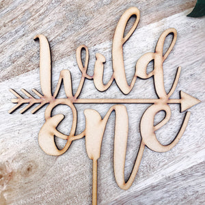 CLEARANCE! 1 ONLY TIMBER Wild One Cake Topper Birthday Cake Topper Cake Decoration Cake Decorating Personalised Cake Toppers 1st Birthday Nh