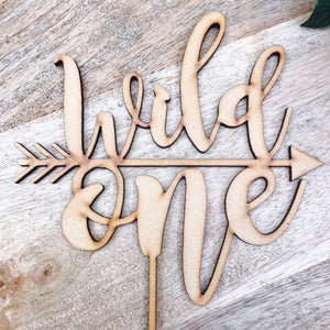 Wild One Cake Topper Birthday Cake Topper Cake Decoration Cake Decorating Personalised Cake Toppers 1st Birthday Cake Topper Boho NH