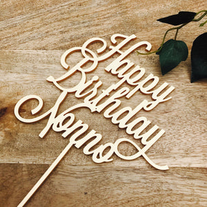 Happy Birthday Nonno Cake Topper Birthday Cake Topper Cake Decoration Cake Decorating Personalised Cake Toppers Custom Cake LVD