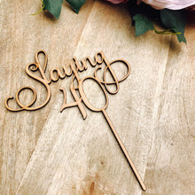 Slaying 40 Cake Topper Fortieth Birthday Cake Topper 40th Birthday Cake Topper Cake Decoration Cake Decorating forty cake topper SMT