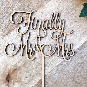 Finally Mr & Mrs Wedding Cake Topper Wedding Cake Engagement Cake Topper Cake Decoration Cake Decorating Mr and Mrs Cake Topper Sugar Boo