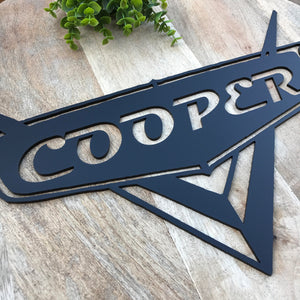 Personalised Cars Door Hanging / Wall Hanging Nursery Decor Wall Decor Boys Decor