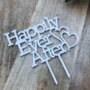 Happily Ever After Hearts Wedding Cake Topper Cake Topper Cake Decoration Wedding Cake Toppers Custom Cake Topper Personalised Cake Topper