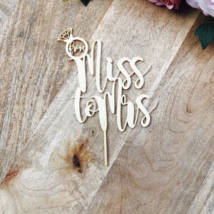 From Miss To Mrs Cake Topper Bridal Shower Cake Kitchen Tea Cake Cake Topper Cake Decoration Cake Decorating Hens Night Topper Sugar Boo