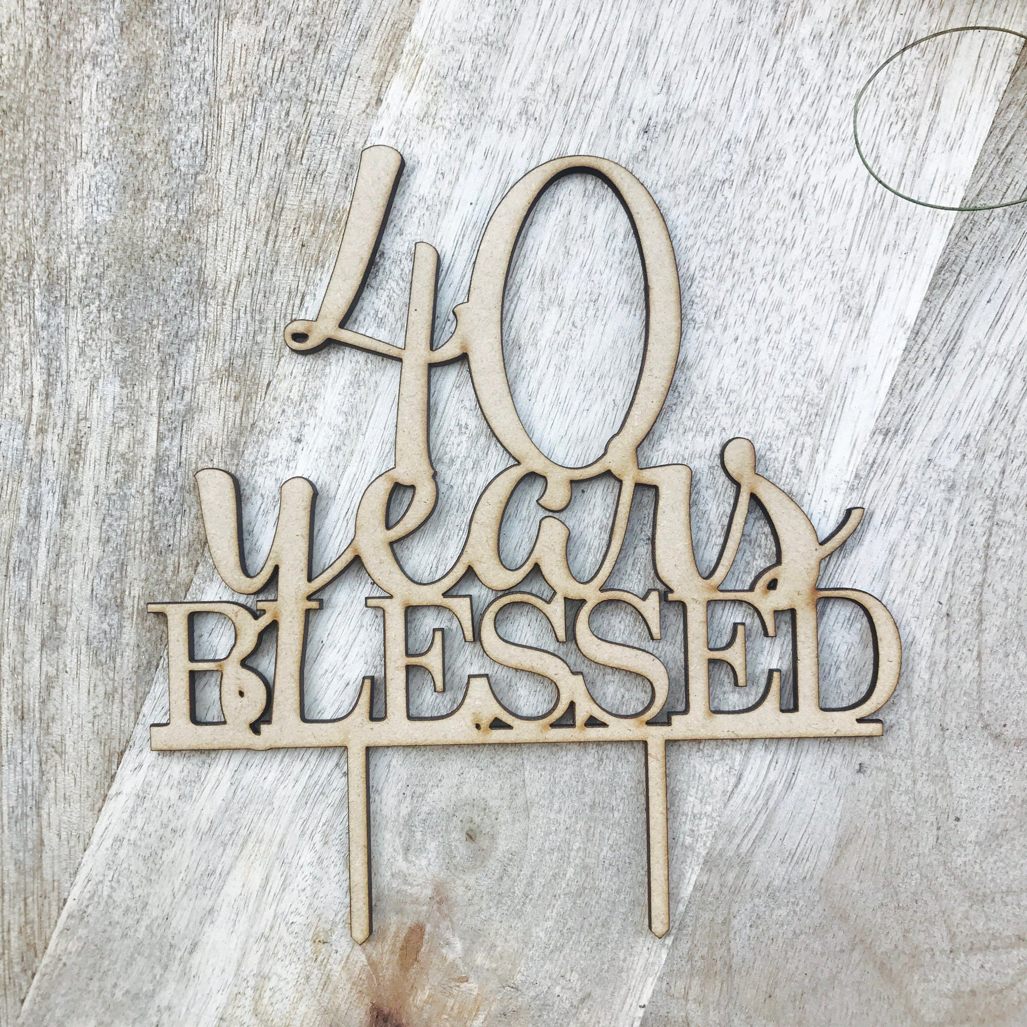 40 Years Blessed Cake Topper Anniversary Cake Topper Cake