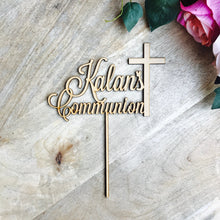 Personalised Communion Cross Cake Topper Cake Decoration Personalised Cake Toppers Christening Cake Topper Religious Baptism Christening LVD