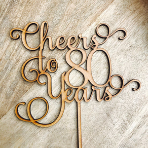 Cheers To 80 Years Cake Topper 80th Birthday Eighty Decoration Decorating Cakes SMT