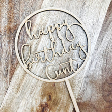 Happy Birthday Cunt Cake Topper Birthday Cake Topper Cake Decoration Cake Decorating Happy Birthday Cursive Topper CIRCMD Sugar Boo SugarBo