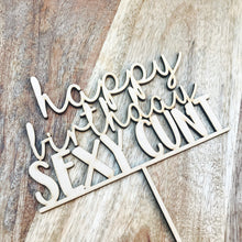 Happy Birthday Sexy Cunt Cake Topper Birthday Cake Topper Cake Decoration Cake Decorating Birthday Funny Topper Rude Topper