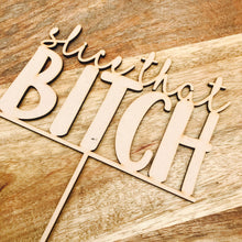 Slice That Bitch Cake Topper Birthday Cake Topper Cake Decoration Cake Decorating Birthday Funny Topper Rude Topper