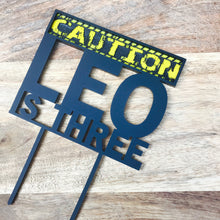 Personalised Is Three Cake Topper Caution Tape 3rd Birthday Construction Birthday Cake Topper Cake Decoration Cake Decorating Caution Is 3