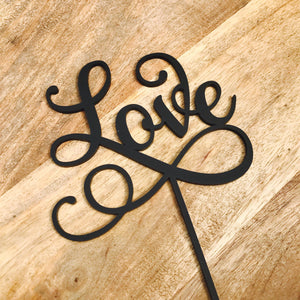 Love Wedding Cake Topper Engagement Cake Topper Cake Decoration Cake Decorating Personalised Cake Toppers Sugar Boo Cake Toppers SMT