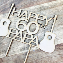 Guitar Music Cake Topper Custom Rockabilly Cake Topper Cake Decoration Cake Decorating Happy Birthday Personalised Rock n Roll Guitar Topper