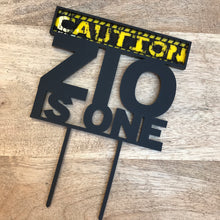 Personalised Is One Cake Topper Caution Tape 1st Birthday Construction Birthday Cake Topper Cake Decoration Cake Decorating Caution Is One