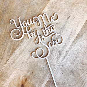 You me by the sea Wedding Cake Topper Cake Decoration Cake Decorating Engagement Cakes Wedding Decor Rustic Cake Topper Sugar Boo SMT