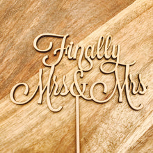 Finally Mrs & Mrs Wedding Cake Topper Wedding Cake Engagement Cake Topper Cake Decoration Bride and Bride Cake Topper Same Sex Sugar Boo