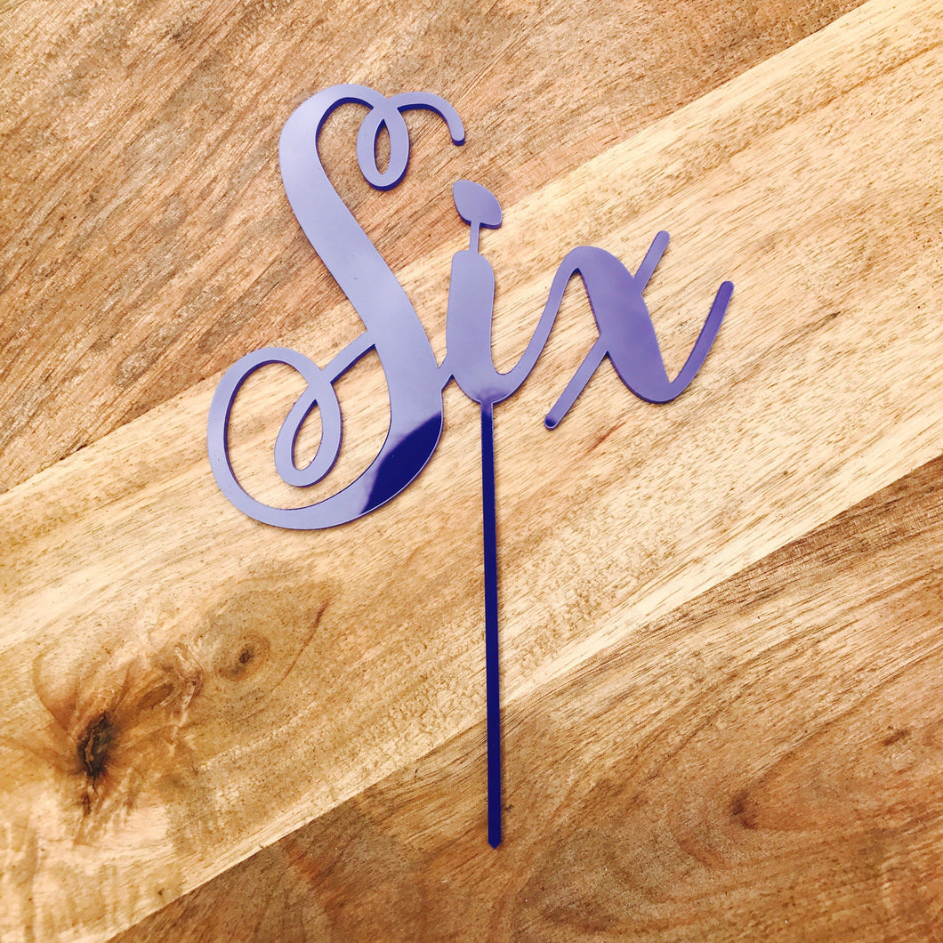 Six Cake Topper Cake Topper Cake Decoration