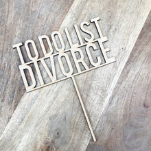 To Do List Divorce Cake Topper Birthday Cake Topper Cake Decoration Cake Decorating Birthday Funny Topper Sugar Boo Cake Topper BS