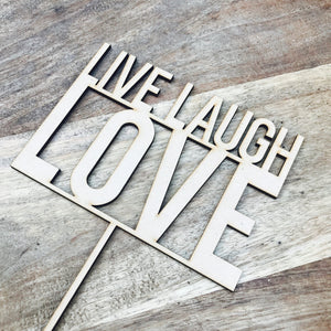 Live Laugh Love Cake Topper Cake Decoration Cake Decorating Party Cake Topper Party Cake Topper Sugar Boo Cake Toppers BS