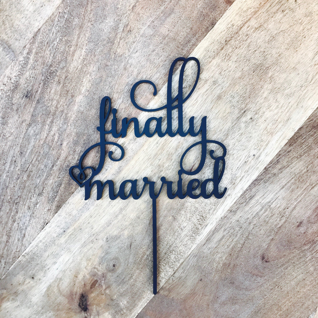 Finally Married Cake Topper Wedding Cake Engagement Cake Topper Cake Decoration Cake Decorating Marriage Cake Toppers Engaged Sugar Boo