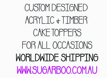 Silhouette Topper ADD Personalised Text Sugar Boo Cake Toppers Cake Decoration SugarBoo