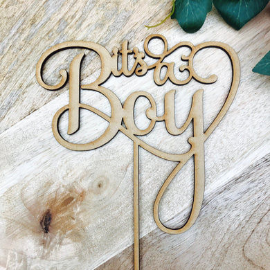 Download SVG File Cutting File It's a Boy Cake Topper Baby Shower Cake Topper Cake Decoration Cake Decorating Cake Toppers boy baby shower