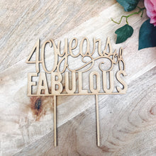 Download SVG File Cutting File  40 years of Fabulous Cake Topper 40th Birthday Cake Topper Cake Decoration Cake Decorating Birthday Cakes