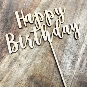 Happy Birthday Cake Topper Birthday Cake Topper Cake Decoration Cake Decorating Happy Birthday Cursive Topper Nbt Sugar Boo Cake Toppers