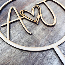 Monogram Circle Cake Topper Boho wedding cake topper heart cake topper Topper cake initial Cake Topper wedding toppers with heart