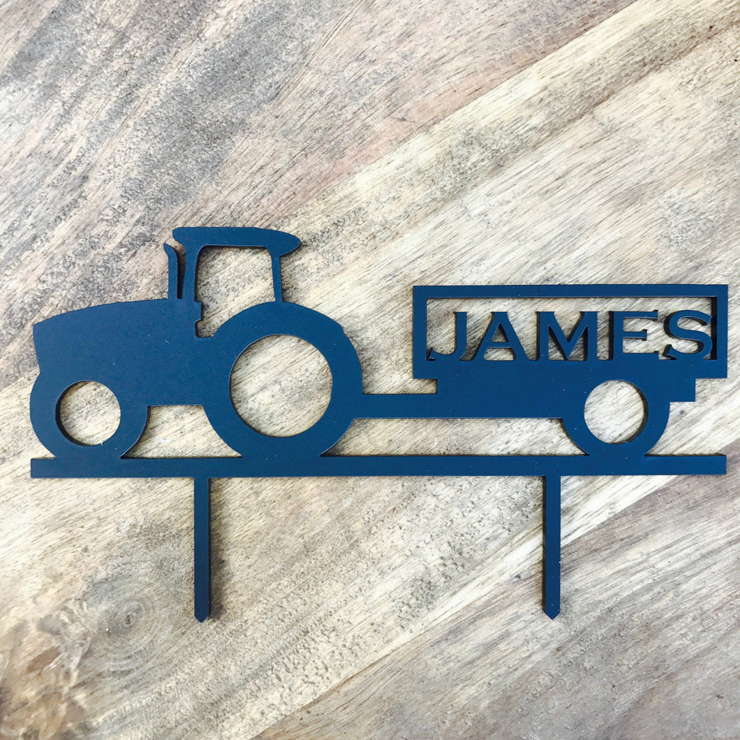 Personalised Tractor Cake Topper Farmer or Tractor Lover Tractor with Name Cake Topper Cake Decoration Cake Decorating Sugar Boo SugarBoo
