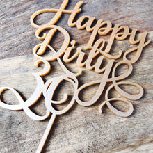 Happy Dirty Thirty Cake Topper 30th Birthday Cake Topper Cake Decoration Cake Decorating Birthday Cakes Thirty Topper 30 Cake Topper