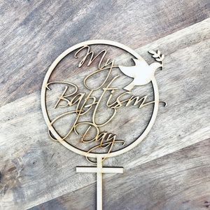 My Baptism Day Cake Topper Baptism Cake Decoration Personalised Cake Toppers Baptism Cake Topper Religious Cake Topper Cross Cake Topper Dov