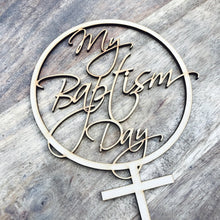 My Baptism Day Cake Topper Baptism Cake Decoration Personalised Cake Toppers Baptism Cake Topper Religious Cake Topper Cross Cake Topper