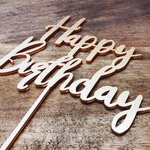 Happy Birthday Cake Topper Birthday Cake Topper Cake Decoration Cake Decorating Happy Birthday Cursive Topper BL Sugar Boo Cake Toppers