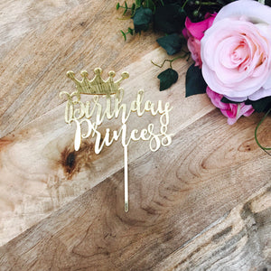 Download SVG File Cutting File  Birthday Princess Cake Topper Crown Cake Topper Cake Decoration Cake Decorating Personalised Cake Toppers
