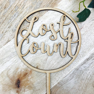 Lost Count Cake Topper Birthday Cake Topper Cake Decoration Cake Decorating Happy Birthday Cursive Topper CIRCSPMCG Sugar Boo SugarBoo