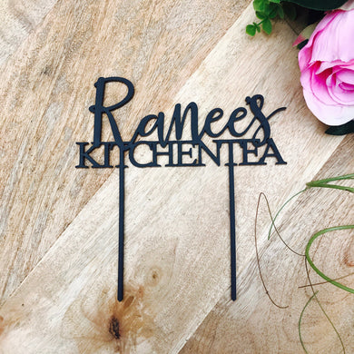 Personalized Kitchen Tea Cake Topper Bridal Shower Cake Kitchen Tea Cake Cake Topper Cake Decorating Personalised Kitchen Tea Cake Topper