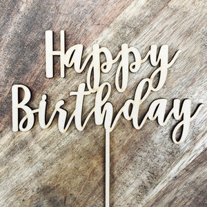 Download SVG File Cutting File Happy Birthday Cake Topper Birthday Cake Topper Cake Decoration Cake Decorating Happy Birthday Cursive