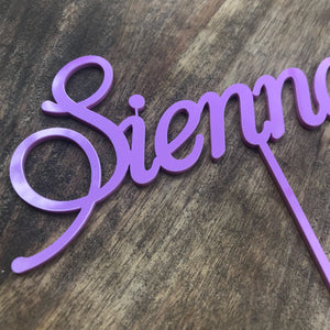 Personalised Name Cake Topper Birthday Cake Topper Custom Cake Decoration Wedding Engagement Birthday Baptism Christening Aph Sugar Boo