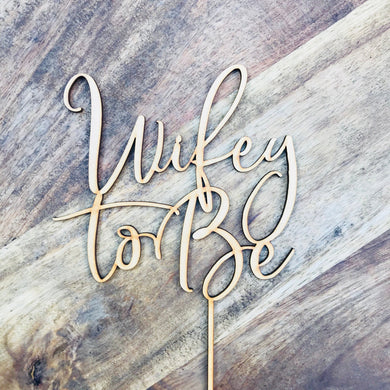Wifey To Be Cake Topper Wifey To Be Cake Toppers Cake Decoration Cake Decorating Cake Toppers Bridal Shower Cake Topper SugarBoo