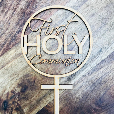 First Holy Communion Cake Topper Communion cake topper Personalised Communion Cake Topper Cake Decoration Cake Decorating Cross cake V2