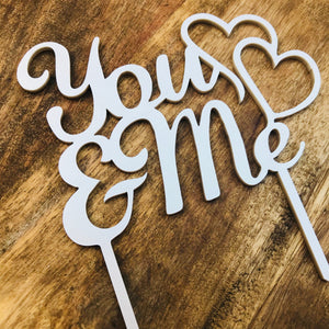 Wedding Cake Topper You & Me Cake Decoration Rustic Timber Cake Topper Engagement Cake Topper You and Me Cake Topper Sugar Boo Cake Toppers