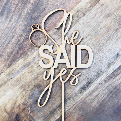 Download SVG File Cutting File She Said Yes Cake Topper Bridal Shower Cake Kitchen Tea Cake Topper Cake Decoration Cake Decorating Bride
