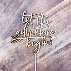 Let The Adventure Begin Cake Topper Birthday Cake Topper Baby Shower Cake Decorating Personalised Cake Toppers Birthday Cake Topper Boho CHB